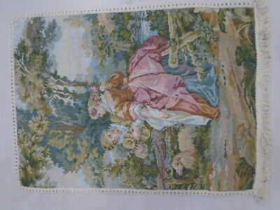 1885 -Old Tapestry  Antique Wall Hanging 20 Century 67  x 50 cm