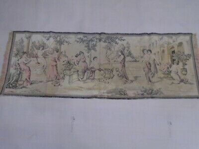 7890 -Old Tapestry  Antique Wall Hanging 20 Century 130  x 47 cm