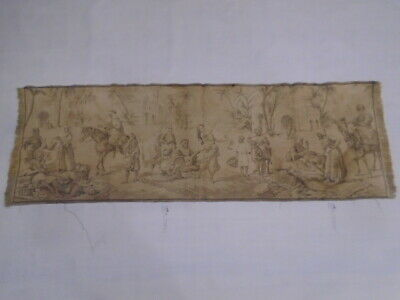 137 -Old Tapestry  Antique Wall Hanging 20 Century 137  x 47 cm