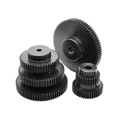 1.5 Mod Spur Gear 12-80 Teeth Transmission Gear With Step 45# Steel Pinion Gear