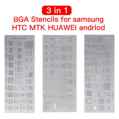 3 In1 Bga Pochoirs Étain Plaque pour Samsung Huawei Android Mtk Puce Ic