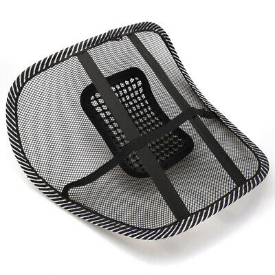 Car Seat Chair Massage Back Lombare Support Mesh Ventilare Cushion Pad