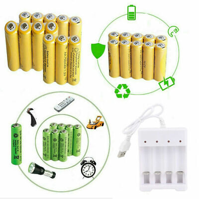 AAA Rechargeable Batteries 1.2v 600mAh AA NiMH Very Latest Type Fast and Free UK