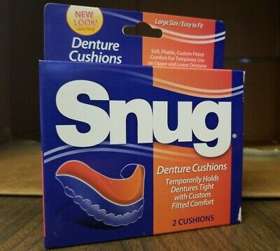 Snug Easy Fit Denture Cushions, 1 box, 2 cushions, Large size