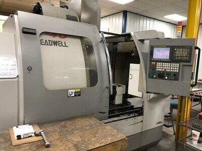 """CNC Machining Center, Leadwell V40, 3 Axis W/ 6"""" CHUCK ROTARY INDEXER"""
