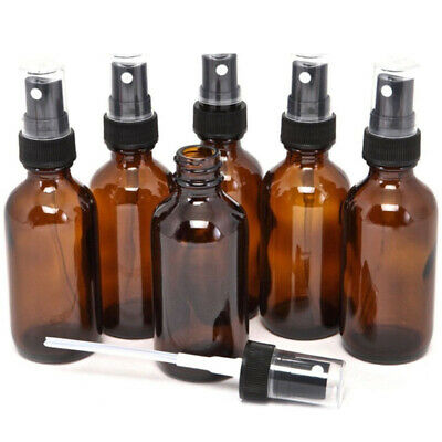 5-100ML Beauty Empty Amber Glass Bottle Essential Oil Mist Spray Container Case