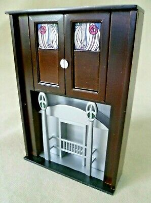 Dolls House Emporium Charles Rennie Mackintosh Drawing Room Fireplace 3408-Rare