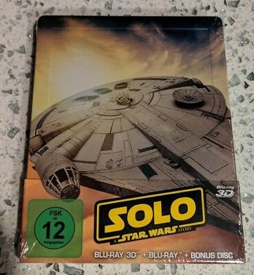 Solo A Star Wars Story 3D Limited Edition Steelbook (Blu-ray 2D/3D) NEW!!