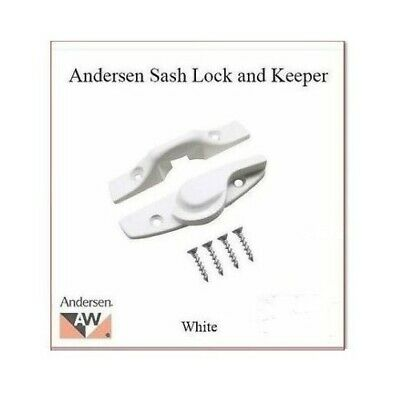 Andersen Window Part Double-Hung Sash Lock Kit -Flush Mount- WHITE P/N: 1630029