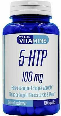 5-HTP Max Strength 100mg – 180 Capsules – 6 Month Supply - Best Value 5HTP