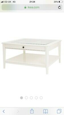 Ikea Liatorp Coffee Table Grey Glass Square Retail