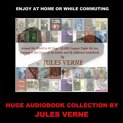 A Huge Collection Of 31 Audioboooks By Jules Verne. Enjoy At Home Or In Your Car