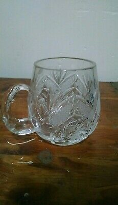 Vintage Made in Poland   Hand Cut Lead Crystal Cup