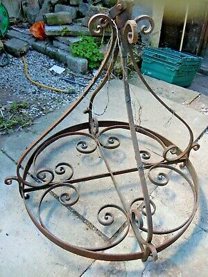 Antique Chandelier Forged Wrought iron Salvage Huge Gothic Lighting Church 25kg