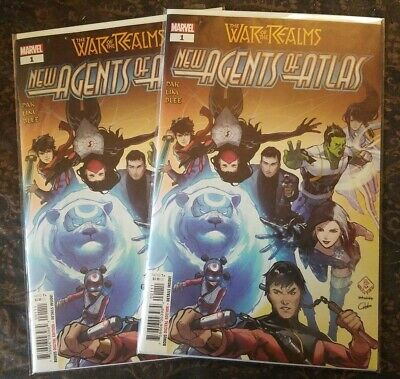 2X NEW AGENTS OF ATLAS #1 1st App Wave War of Realms NM 2 book lot