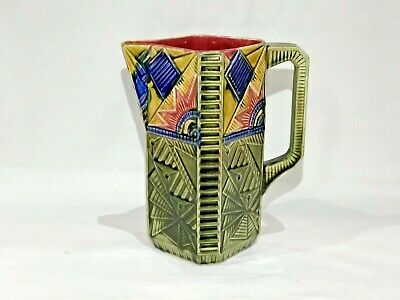 Vintage Art Nouveau FRIE ONNAING French Majolica Pitcher - Marked