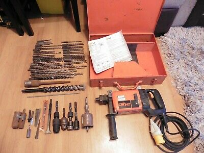 Spit 342 110v Commercial 600W hammer drill SDS + MANY DRILL BITS & Case FREEPOST
