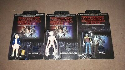 Funko Stranger Things rare chase figure set. Eleven, Will, Demogorgon
