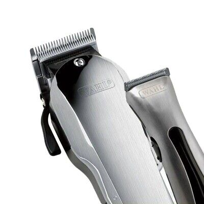 Wahl Brushed Chrome Combo Pack Taper 2000 Clipper & Beret Trimmer