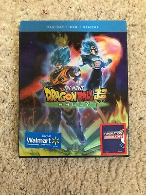 Dragon Ball Super: Broly Blu-Ray + DVD + Digital Lenticular Cover Sealed New!