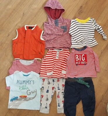 Boys 3-6 month bundle stripes tops trousers gilet next mothercare M&S spring