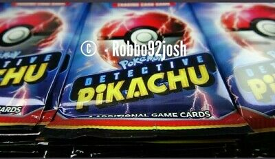 Detective Pikachu Booster Packs Brand NEW Sealed Pokemon Cards