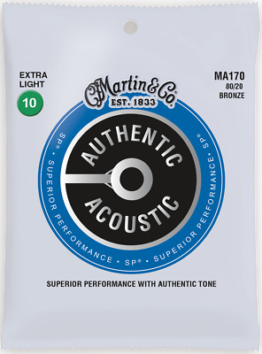 Martin Authentic Acoustic SP 10-47 Ex Light 80/20 Bronze Acoustic Guitar Strings