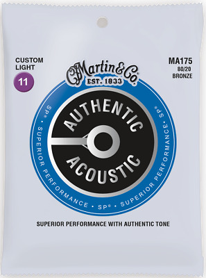 Martin Authentic Acoustic SP 11-52 CT Light 80/20 Bronze Acoustic Guitar Strings