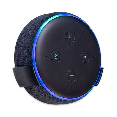 Wall Mount Stand for Amazon Echo Dot 3rd Gen / Alexa - Black