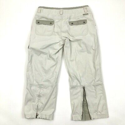 Columbia Women's Capri Pants Zip Ankle Size 10 Cropped Cargo Pant Fade Out Wash