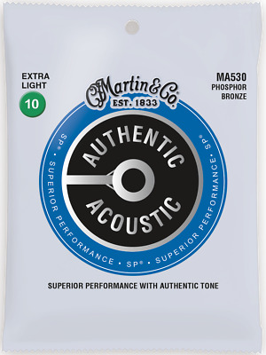 Martin Authentic Acoustic SP 10-47 Ex-Light Phos Bronze Acoustic Guitar Strings