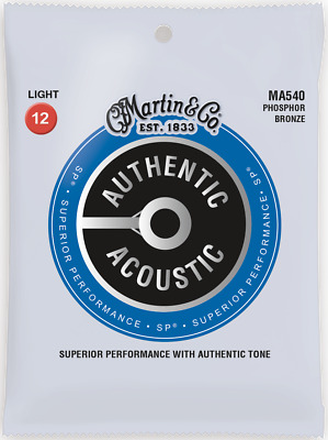 Martin Authentic Acoustic SP 12-54 Light Phosphor Bronze Acoustic Guitar Strings