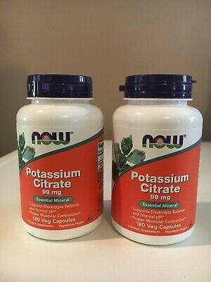 Potassium Citrate Nervous System Support Dietary Natural Supplement 180 Ca