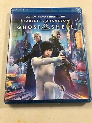 Ghost in the Shell (Blu-ray + DVD + Digital) Brand New Sealed