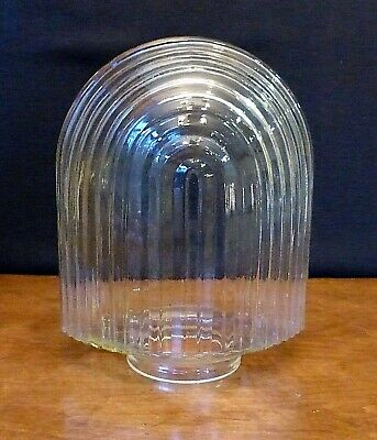 Vintage Art Deco Skyscraper Clear Glass Shade Globe Sconce Arched Marquee
