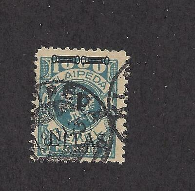 """Memel - N59 - Used - 1923 - New Value O/P On """"Vytis"""" - Signed"""
