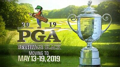 2019 PGA Two (2) Tickets  Full Week WANNAMAKER CLUB Passes Bethpage Mon-Sun
