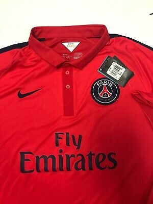 new concept 2bb48 a35c6 AUTHENTIC NIKE PSG 2014 Jersey XXL 2XL Free Shipping NWT Paris Saint Germain