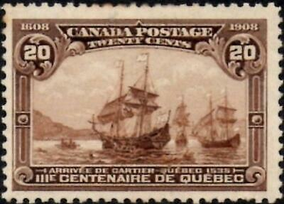 Canada 1908 Quebec Tercentenary  20C Dull Brown   SG.195 Mint (Hinged)   Faults