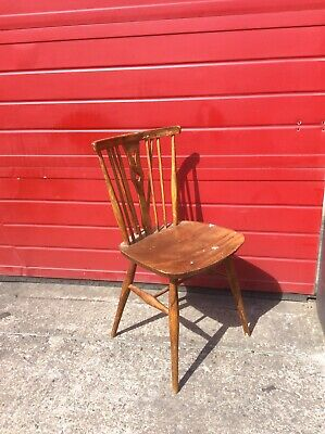 Vintage Wooden Pub Style Chair, Mid Century, Retro, Upcycling Project, Antique
