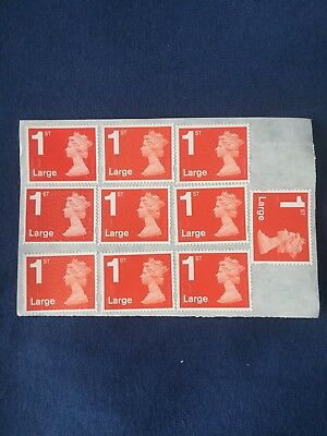 100x 1st First Class large Letter Unfranked Stamps. Full Original Gum
