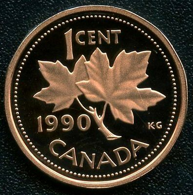 Canada 1990 Frosted Proof 1 Cent Coin