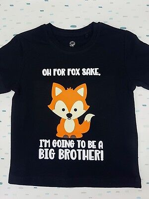 For Fox Sake, birth announcement, kids clothing t-shirt, big brother, big sister