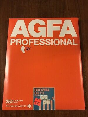 AGFA Professional Photo Paper 8x10 25 Sheets SEALED Brovira BH111 Old Stock