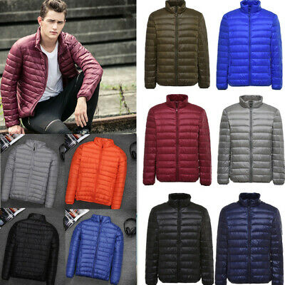 AU Mens Winter Quilted Puffer Coat Ultralight Padded Down Outwear Jacket Warm