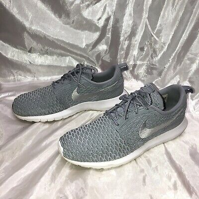 Details about Nike Roshe Run Flyknit size 10.5 Wolf Grey authentic