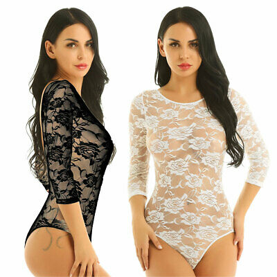Women Sexy Lingerie Lace Babydoll Bodysuit Leotard Nightwear Sleepwear Underwear