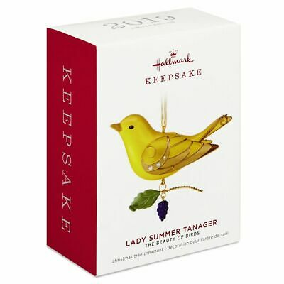 2019 Hallmark The Beauty of Birds Lady Summer Tanager Ornament Limited Edition