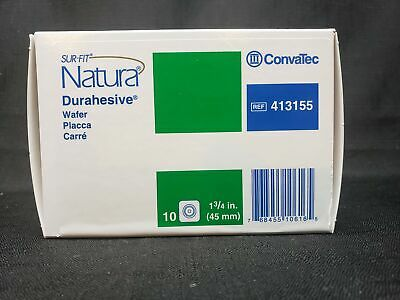 Box of 10 Convatec Colostomy Barriers 413155 Wafer Sur-Fit Natura