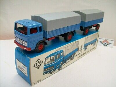 Mercedes LP 1624 Lastzug, 1967, blue, CKO Kellermann (Germany) 1:35